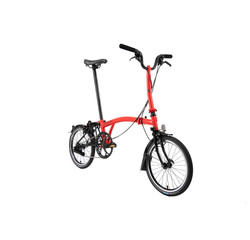 Brompton Brompton M6LX Black Edition Superlight Titanium Folding Bike, Rocket Red