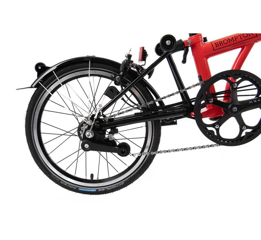 Brompton M6LX Black Edition Superlight Titanium Folding Bike, Rocket Red