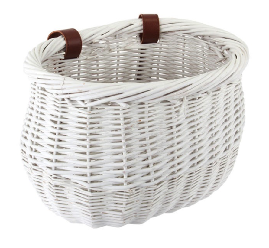 Sunlite Willow bike basket, child's size, white