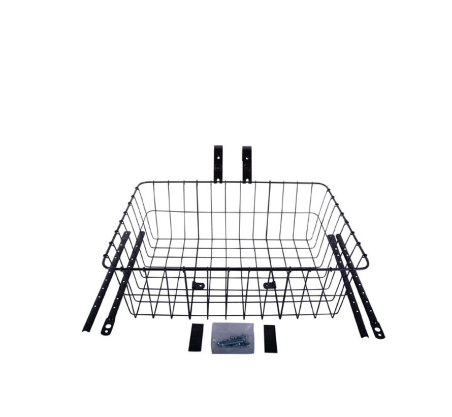 Wald 1392 Front Basket, Black, Multi-Fit