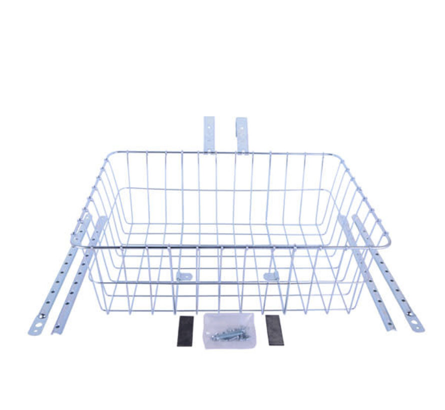 Wald 1392 Front Basket, Silver, Multi-Fit