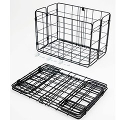 Wald Wald 582 Rear Folding Basket, Black