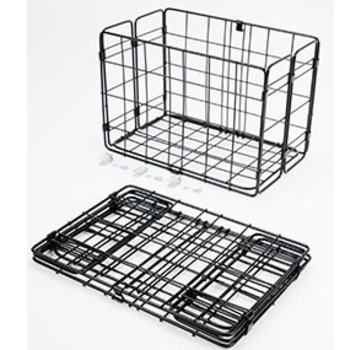 Wald Wald 582 Rear Folding Basket, Black
