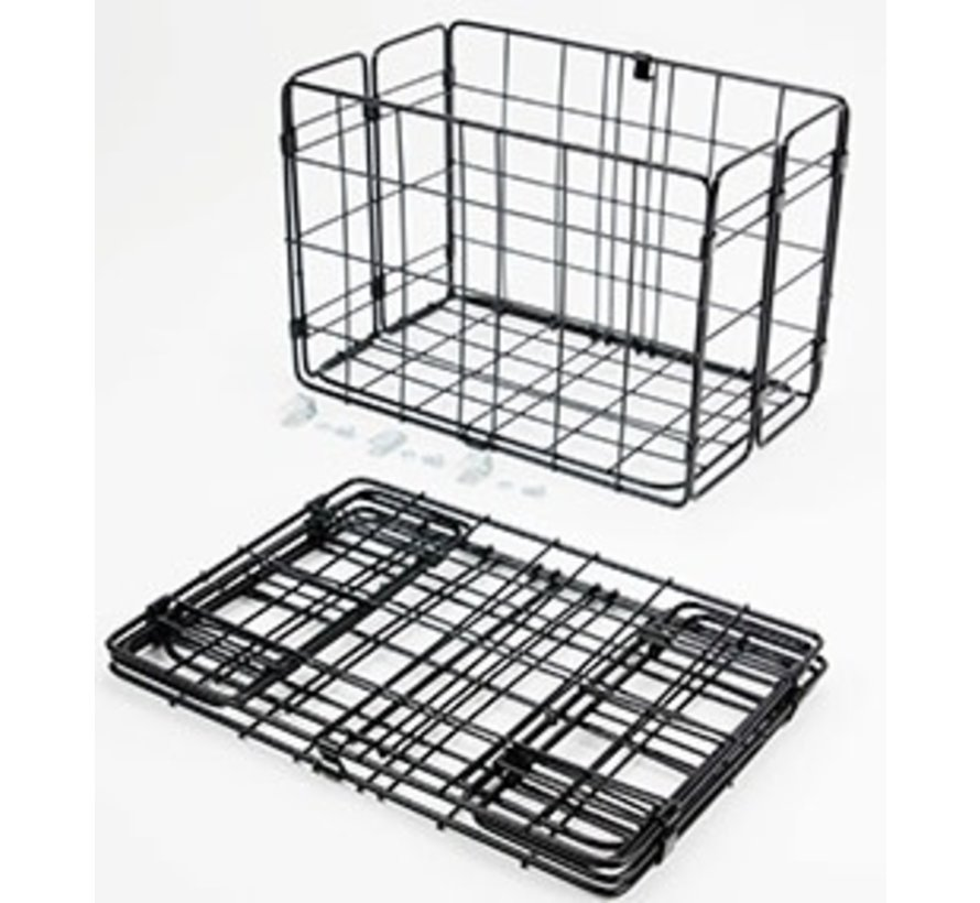 Wald 582 Rear Folding Basket, Black