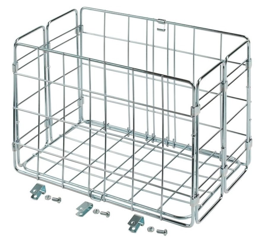 Wald 582 Rear Folding Basket, Chrome