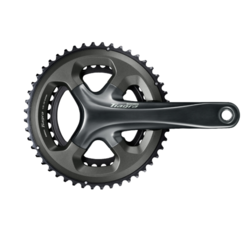 Shimano Shimano Tiagra FC-4700 Crankset - 175mm, 10-Speed, 50/34t, 110 Asymmetric BCD, Hollowtech II Spindle Interface, Gray