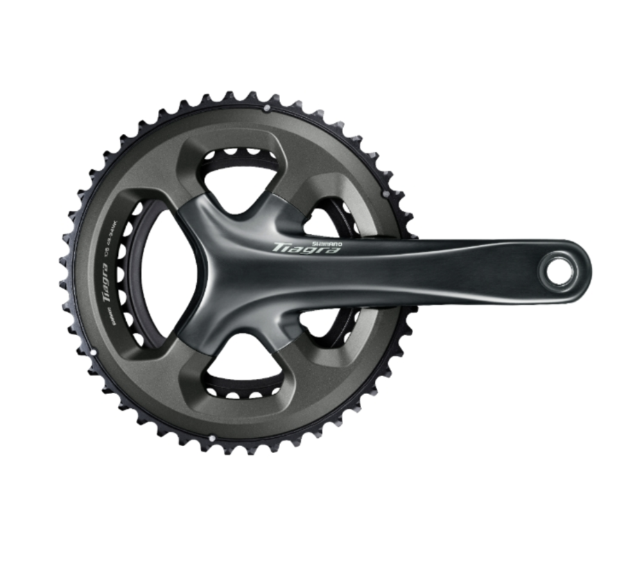 Shimano Tiagra FC-4700 Crankset - 175mm, 10-Speed, 50/34t, 110 Asymmetric BCD, Hollowtech II Spindle Interface, Gray