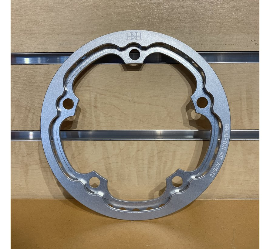 Brompton H&H 40t Aluminum Chainring with Integrated Chainguard