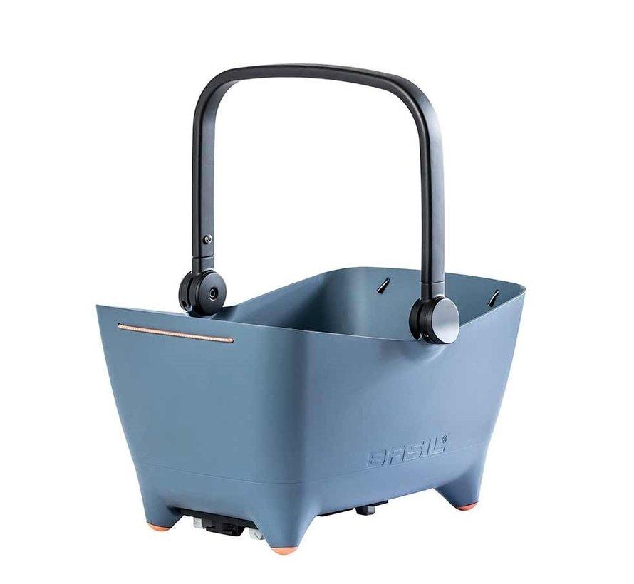Basil Buddy Dog Basket Light Blue Rack Mounted