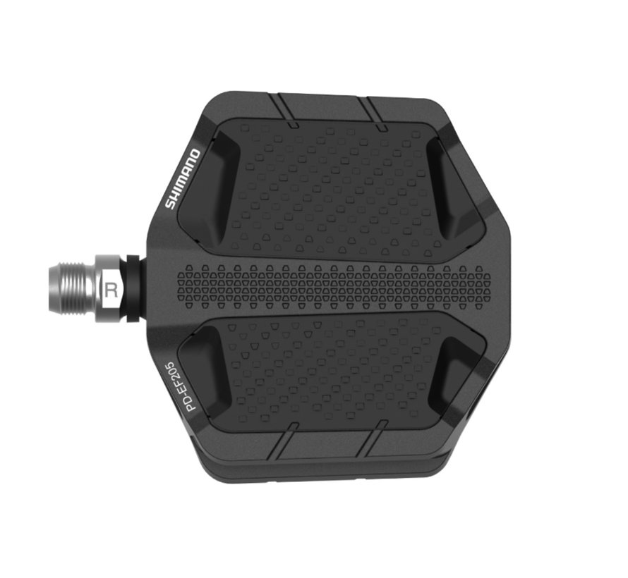 Shimano PD-EF205 Flat Pedals w/ Friction Plate Black