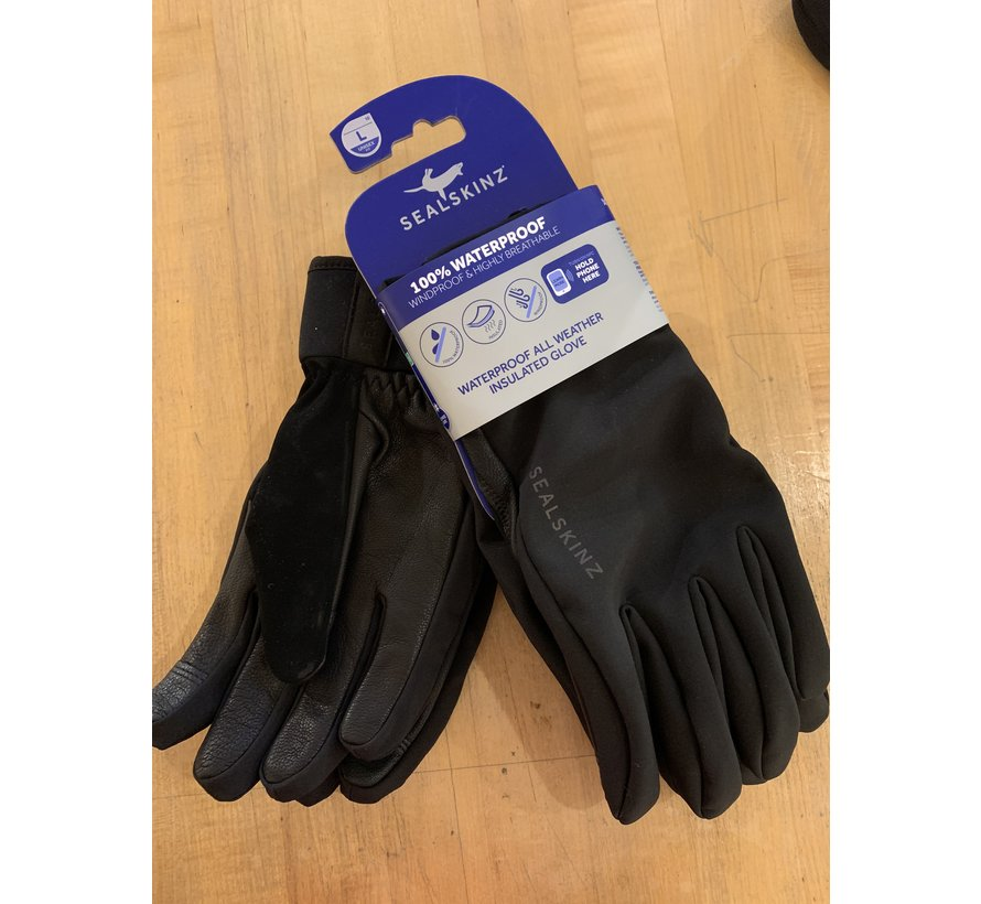 Sealskinz All Weather Insulated Glove Leather Palm Large