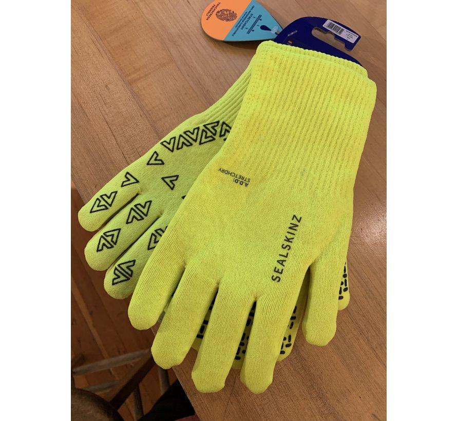 Sealskinz Waterproof Ultra Grip Gloves Hi Vis Yellow Small
