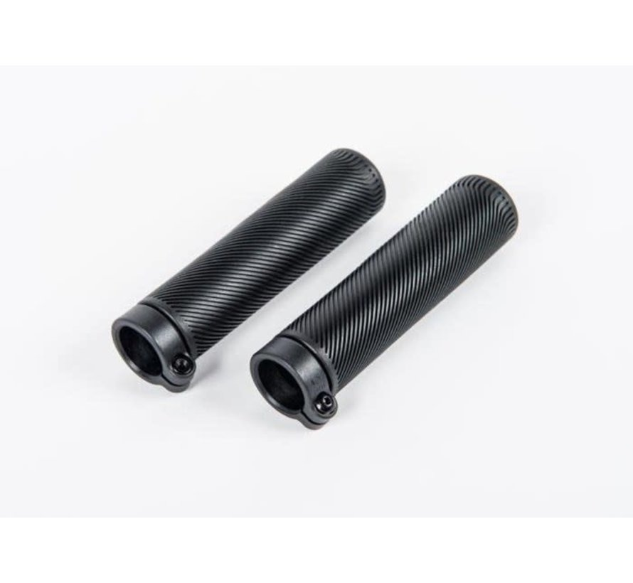 Brompton Grips 130mm lock on for S Type and low rise M and H Type Black Rubber