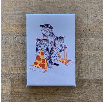 Ephemera Magnet - Kitties Eating Pizza