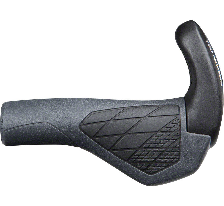 Ergon GS2 Grips - Black/Gray, Lock-On, Small