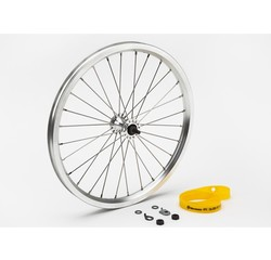 Brompton Brompton Front Wheel Radial Lacing Includes Fittings for Standard Bikes Silver - QFWSS