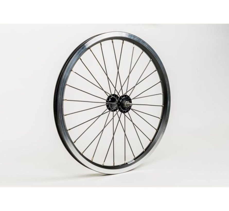 Brompton Front wheel radial lacing includes fittings Standard Black - QFWSS-BK