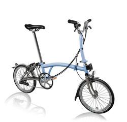 Brompton Brompton M6LX Superlight Titanium Folding Bike, Cloud Blue