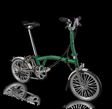 Brompton Brompton S6LX Superlight Titanium Folding Bike, Racing Green