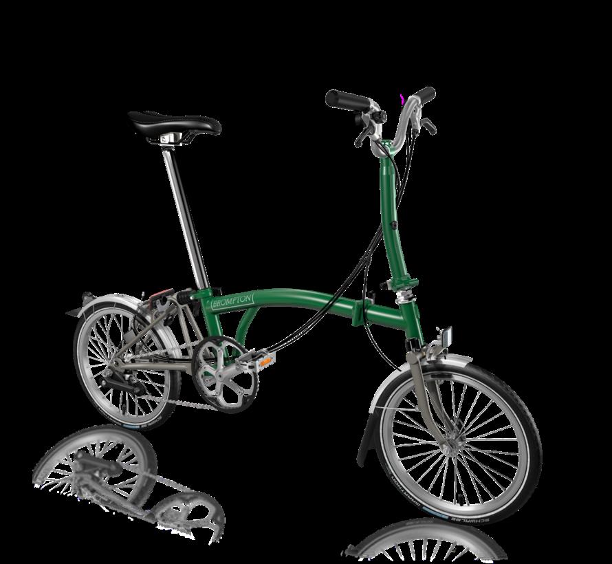 Brompton S6LX Superlight Titanium Folding Bike, Racing Green