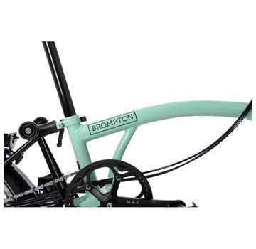 Brompton Brompton M6LX Black Edition Superlight Titanium Folding Bike, Turkish Green