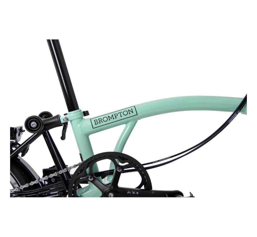 Brompton M6LX Black Edition Superlight Titanium Folding Bike, Turkish Green