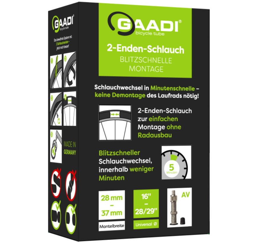 Gaadi Open Ended Bicycle Tube, Comfort, 16 to 29-inch