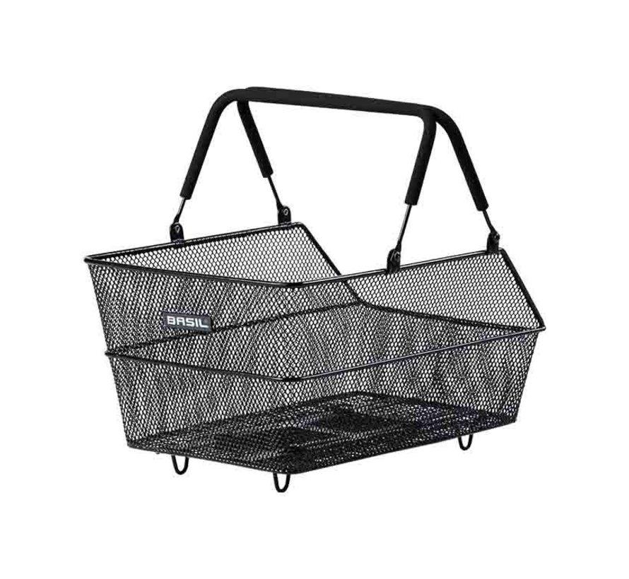 Basil Cento Rear Basket with Handle 39x24x21 Black