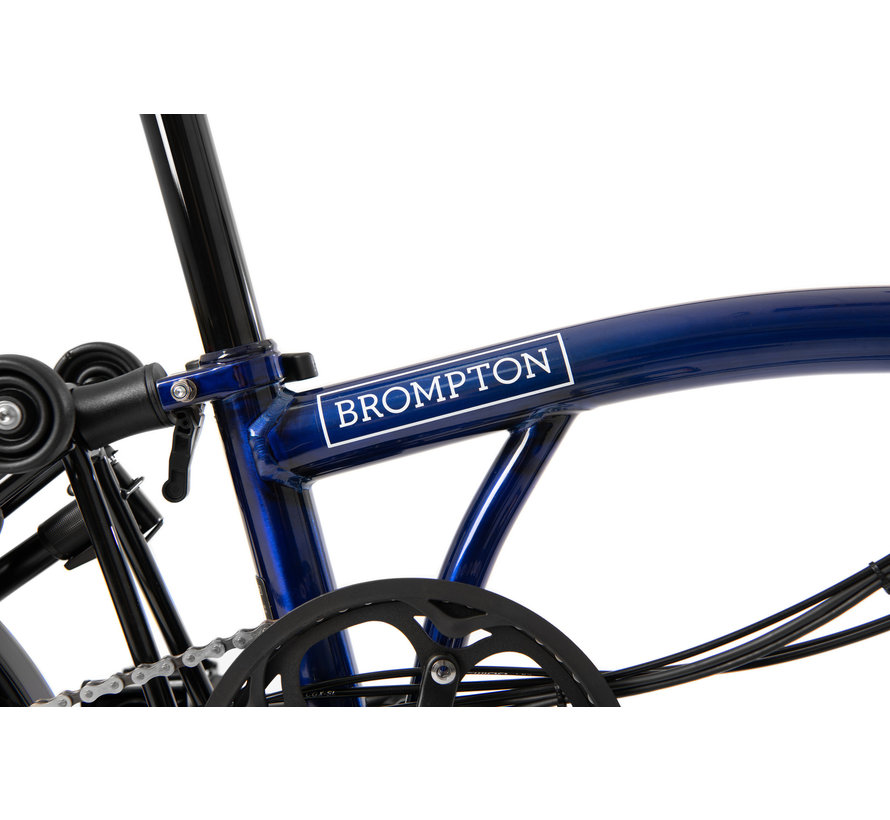 Brompton Electric Folding Bike H Type Six Speed Blue Lacquer/Black - Blemished
