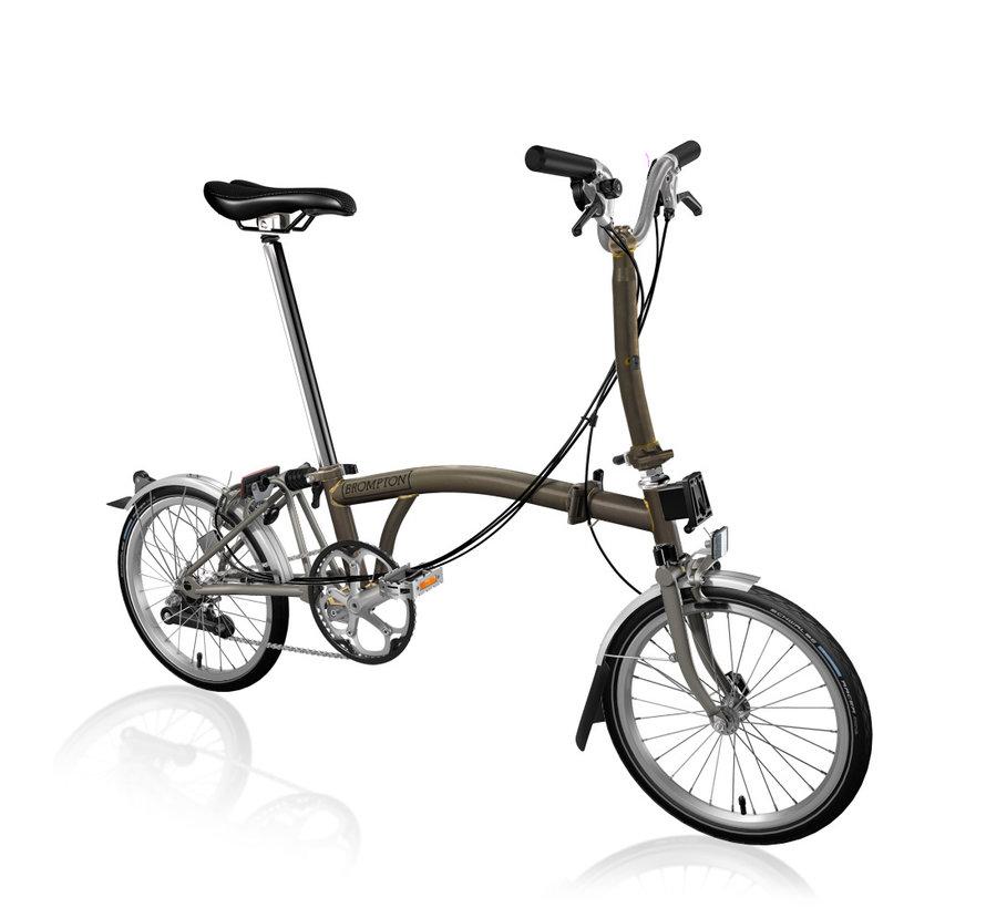 Brompton M6LX Superlight Titanium Folding Bike, Black Lacquer