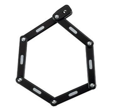 Abus ABUS Bordo 6000/75 cm 2.5 ft Folding Lock With Keys, Black