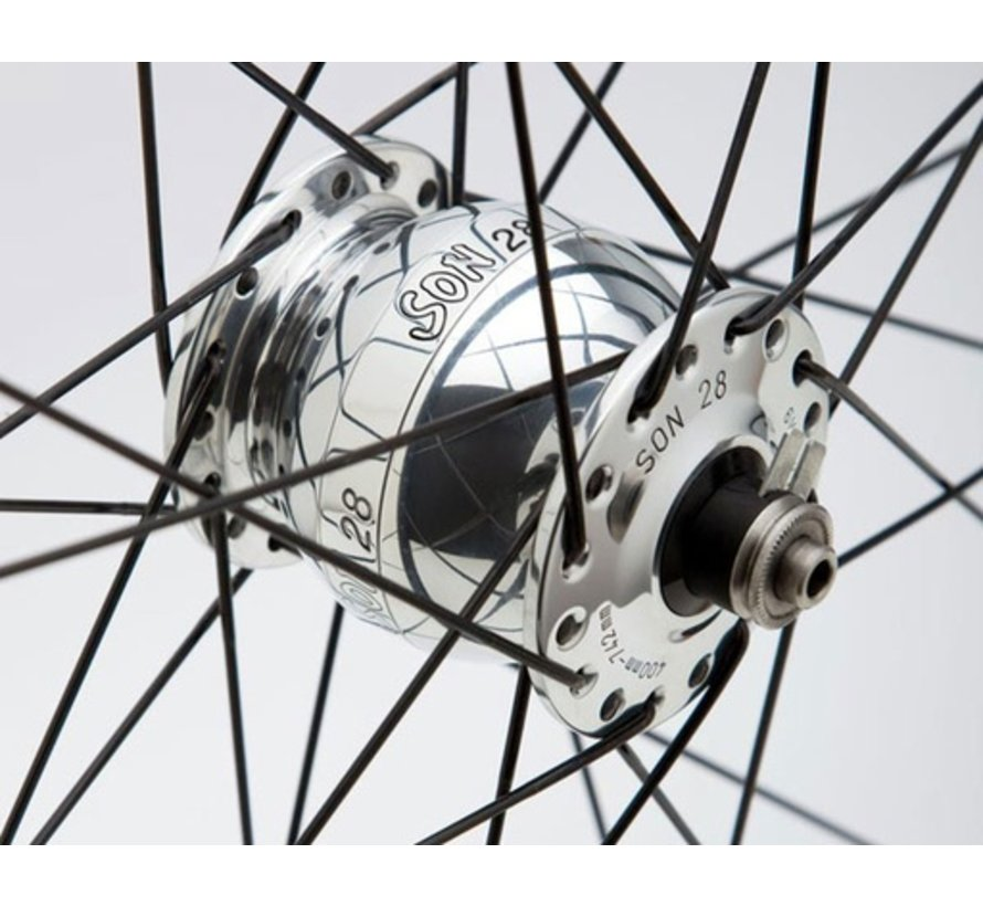 Schmidt SON 28 Dynamo Hub, 36 Hole, Polished Silver