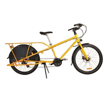 Yuba Yuba Mundo LUX V5 Cargo Bike, Yellow