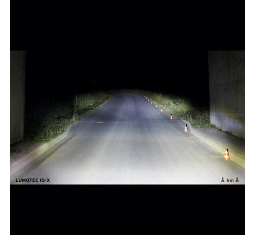 B&M Lumotec IQ X dynamo headlight, silver