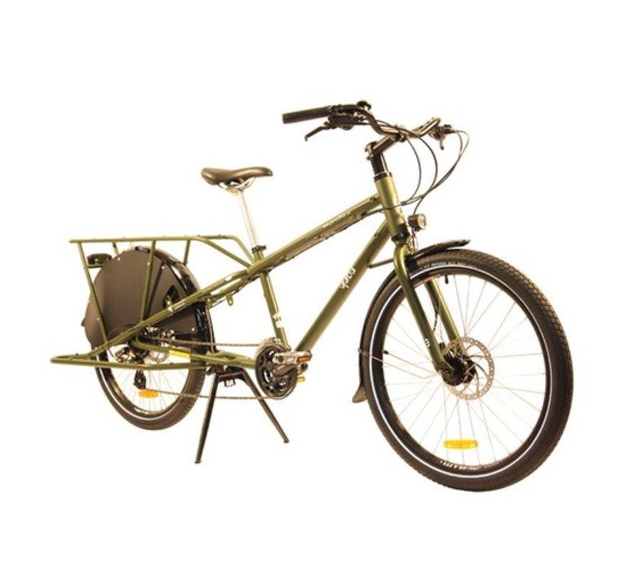 Yuba Mundo LUX V5 Cargo Bike, Olive