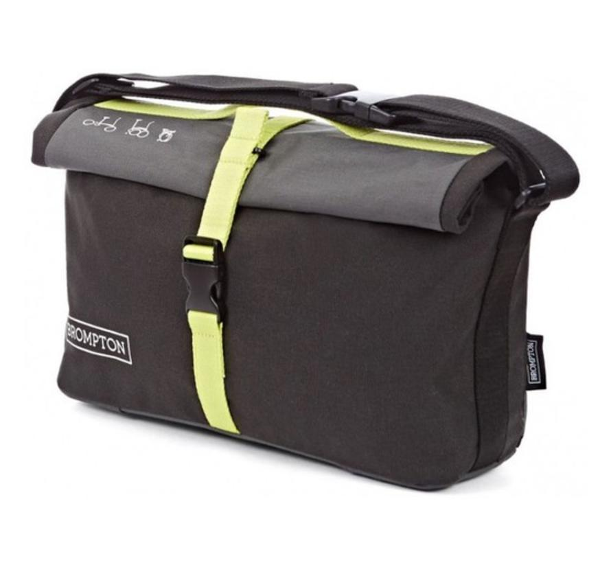 Brompton Roll Top Bag Includes Frame Nylon Gray Black Lime Green - QRTB-GY