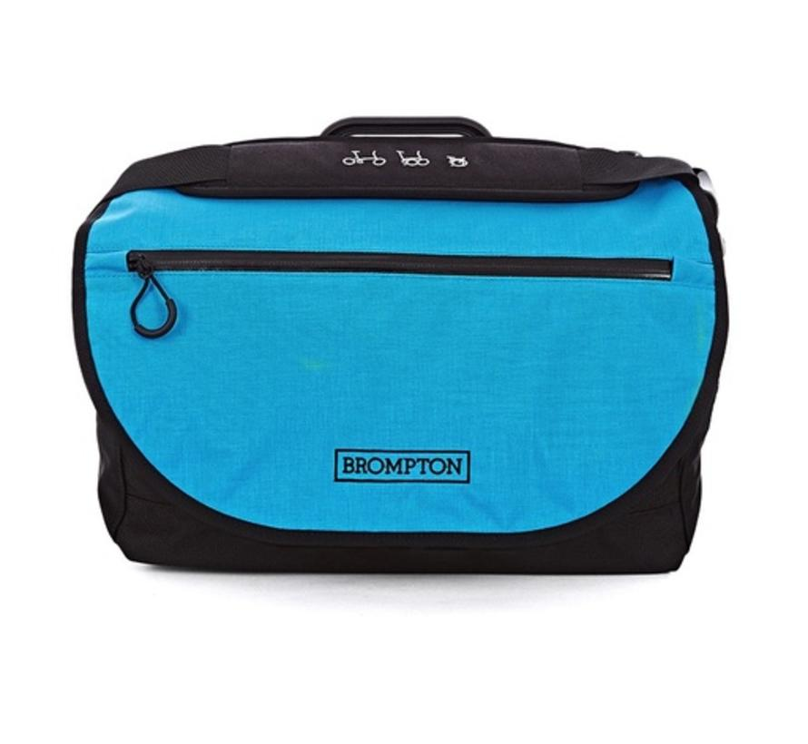 Brompton S Bag, Lagoon Blue Flap, C/W Cover & Frame