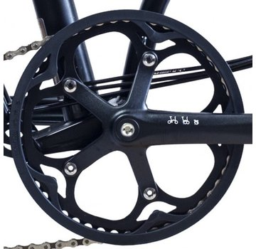 Brompton Brompton Chainring and Guard for Spider Type Crankset 50T Black - QCHRINGA-SPI-50-BK