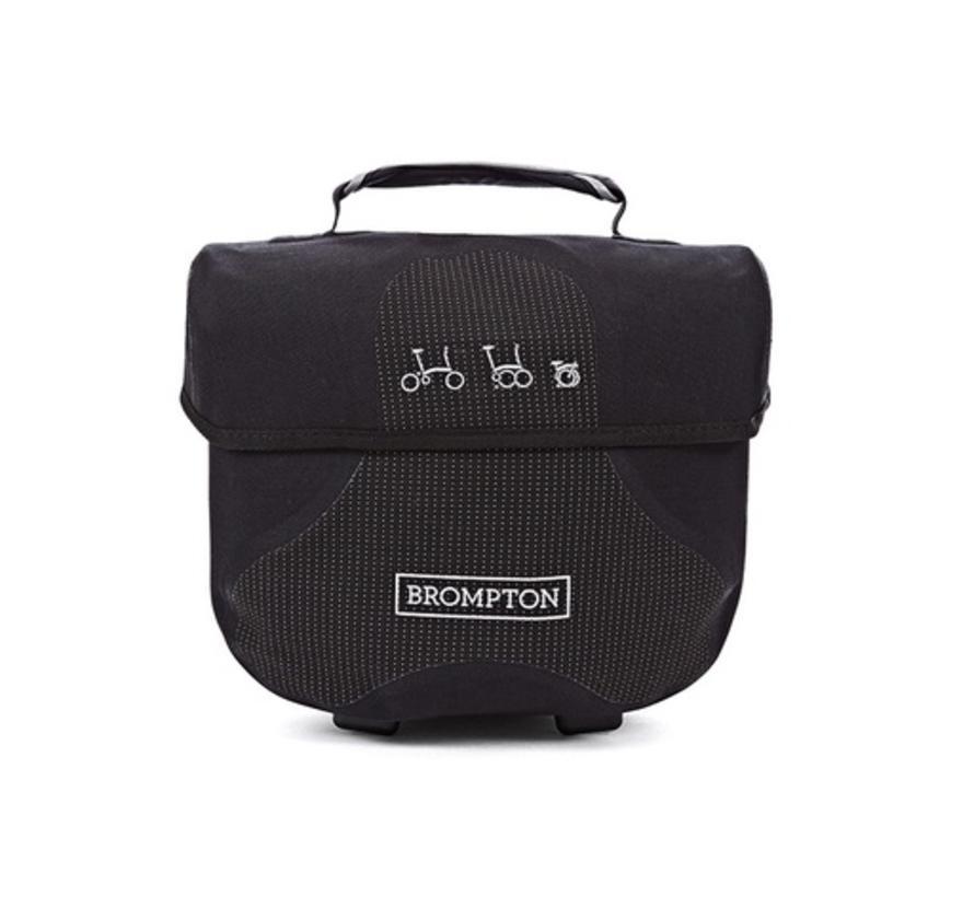 Brompton Mini O Bag Black With Reflective Materials - QMOB-BK-REF