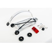 Brompton Brompton Rack complete with 4 rollers and mudguard 6mm holes Silver - QRACKA