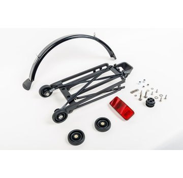 Brompton Brompton Rack Complete With 4 Rollers and Mudguard 6mm Holes Black - QRACKA-BK