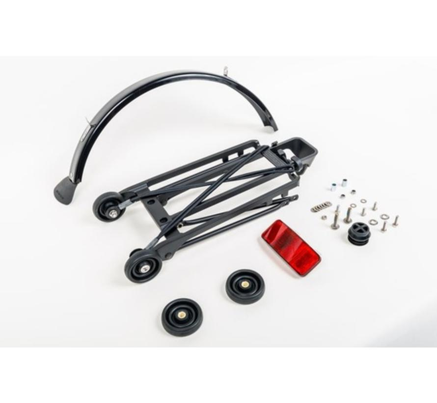 Brompton Rack Complete With 4 Rollers and Mudguard 6mm Holes Black - QRACKA-BK