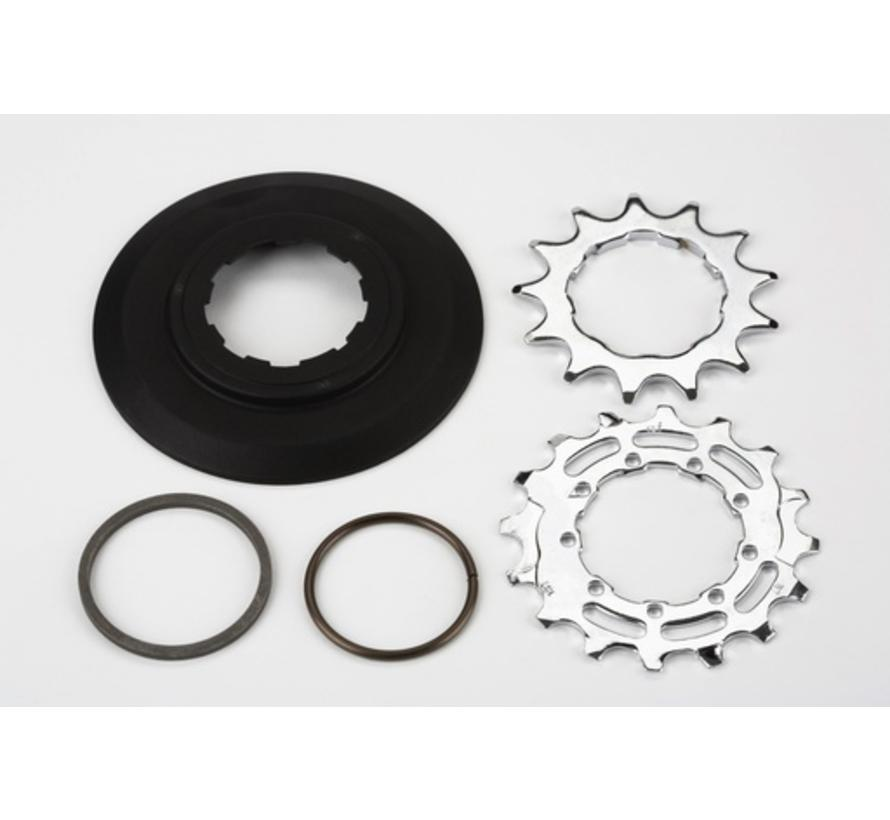 Brompton Sprocket Set 13T 16T for 3 32nd Inch 9 Spline for 6 Speed BWR - QRSPRSTACK-BWR6