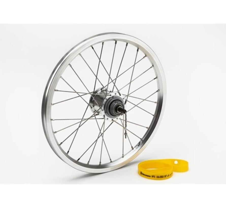 Brompton Rear Wheel 3-Speed BSR Includes Fittings Silver - QRW3SS-SA