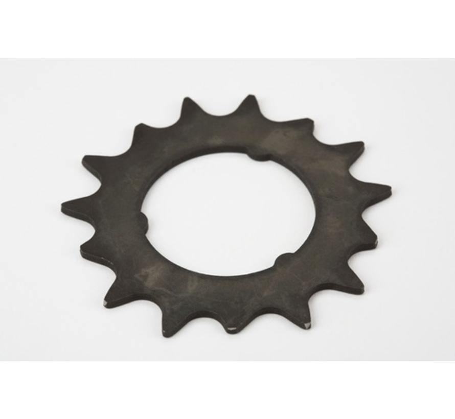 Brompton Sprocket 15T 3 32nd of an Inch 3 Spline for 6 Speed SRAM - QRSPR15DR