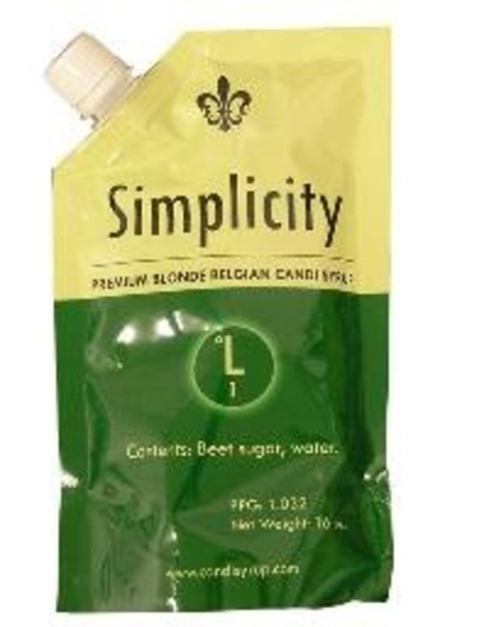 SIMPLICITY BELGIAN CANDI SYRUP 0 LOVIBOND 1 LB POUCH