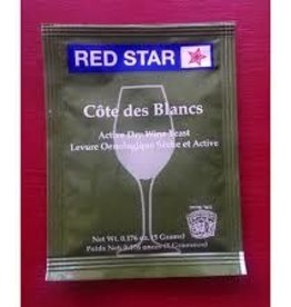 COTE DES BLANC RED STAR 5 GRAM WINE YEAST