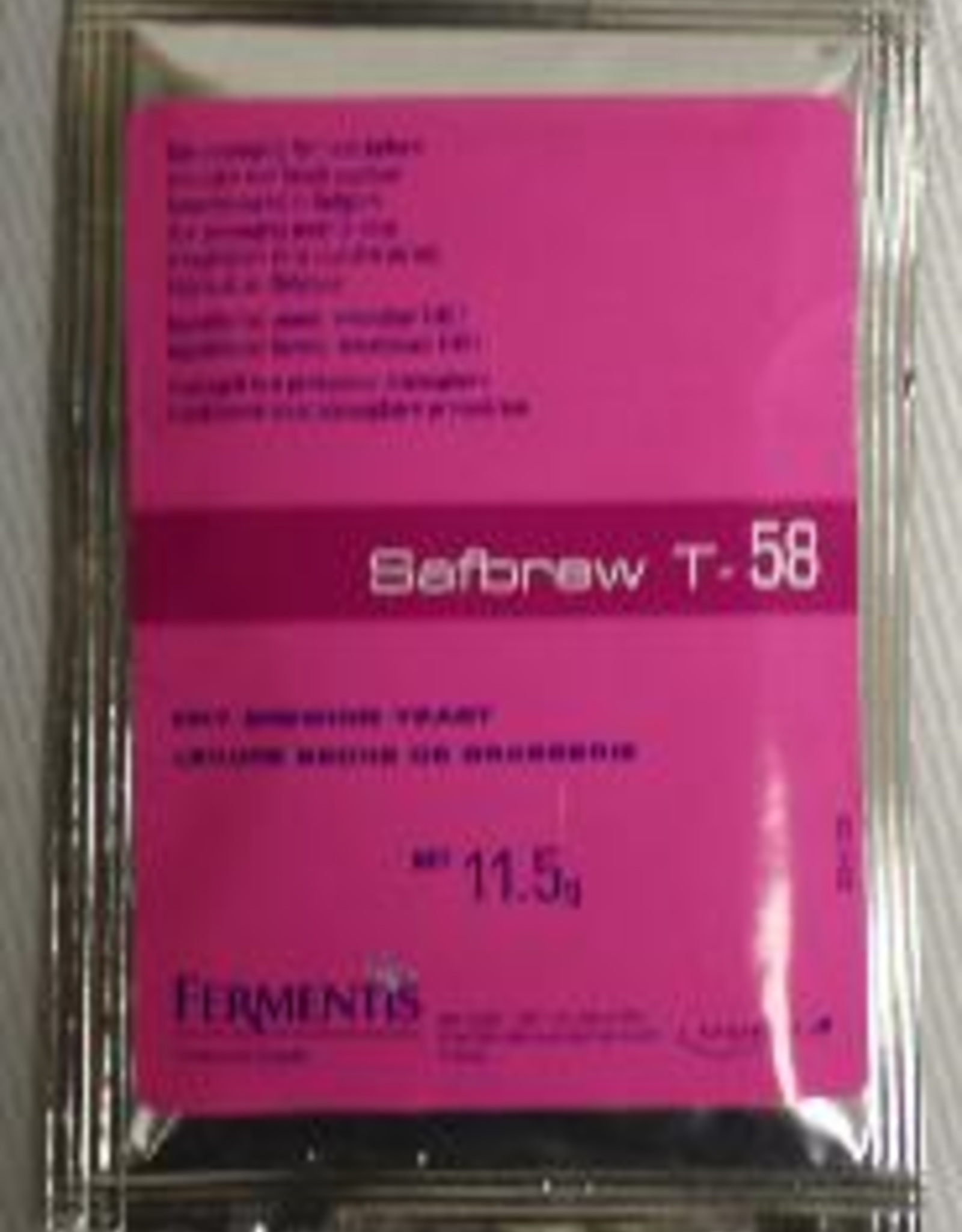 SAFALE T-58 DRY BREWING YEAST 11 G