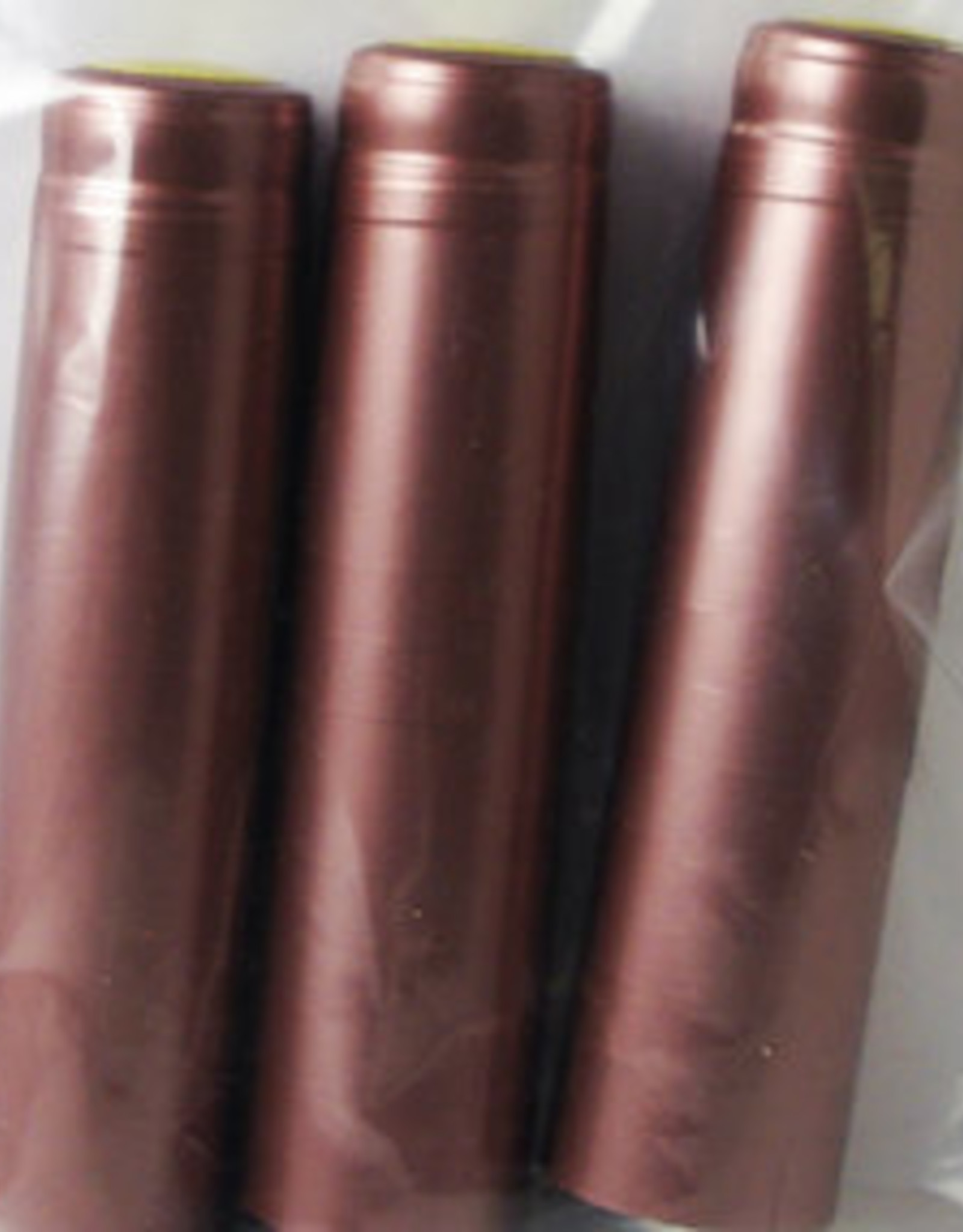 DUSTY ROSE PVC SHRINK CAPSULES 30/BAG