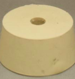 #10.5 DRILLED RUBBER STOPPER